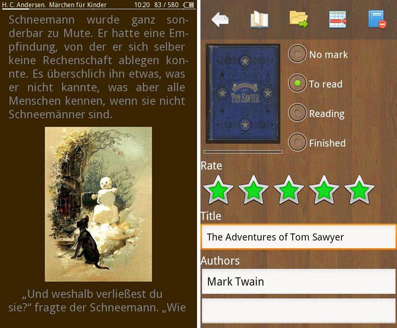 Скриншоты для Cool Reader