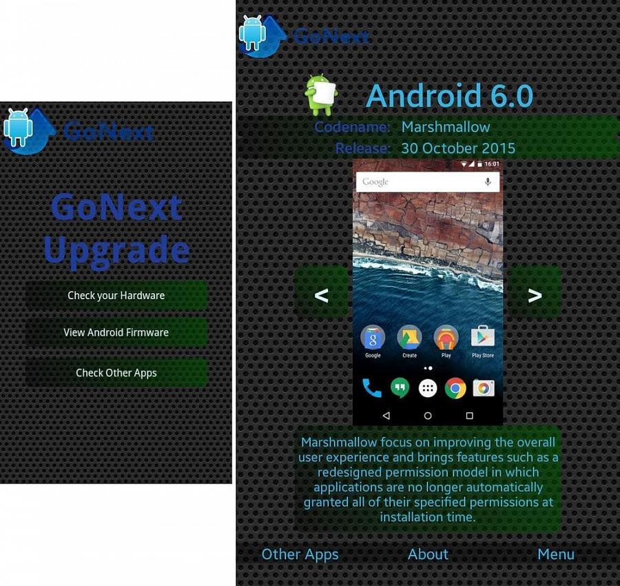 Скриншоты для Обновление на Android