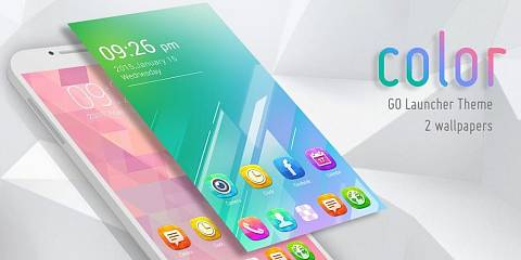 Скриншоты к Color GO Launcher Theme