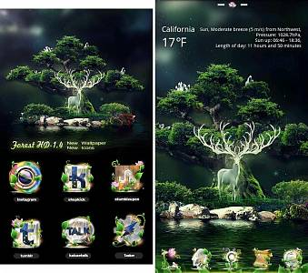 Скриншоты к Forest GO Launcher EX Theme