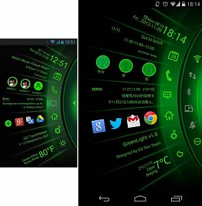 Скриншоты к Green Light Toucher Pro Theme