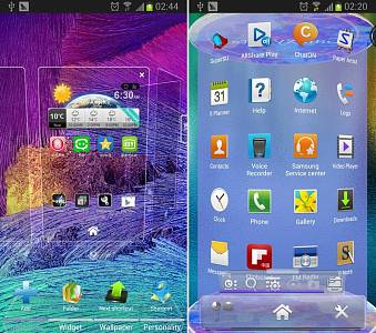 Скриншоты к Galaxy Note4 Next 3D Theme